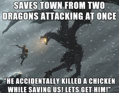 Skyrim logic. I used fury once on a chicken to see if it would attack people and the whole village tryed to kill me