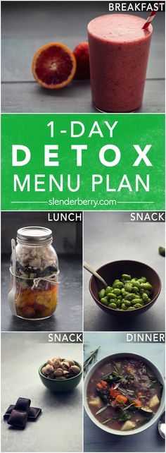 1-Day Detox Menu to Cleanse Your Body