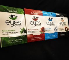 Eyes by ToGoSpa the ultimate under eye treat!   Perfect for Anyone With A Face!  Hydrate, Nourish, Soothe and Moisturize your under eyes leaving them refreshed and rejuvenated. The more you buy, the better the price!     1-4 packs $12.50 each   5-9 packs $11.00 each   10+ packs $10.00 each