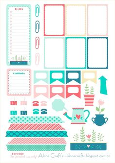 Free Tea Party Planner Stickers | Alana Crafts