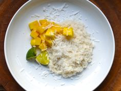 Coconut rice porridge i like to omit the sugar and top with honey and cardamom. .. so tasty