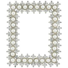5dc295885e4d Delicate frame with faux pearls and Swarovski® crystals in a silver-tone  metal finish. Exclusive designs