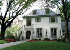Beautiful white house in French style Architecture 14 Amazing