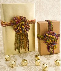 Pretty PomPom Crochet Gift Wrap