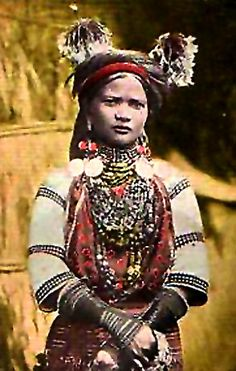 Kalinga woman with heirloom beads