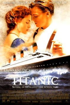 A great poster from James Cameron's epic love story movie Titanic! Starring Leonardo DiCaprio and Kate Winslet. Winner of 11 Oscars! Check out the rest of our fantastic selection of Titanic posters! Need Poster Mounts. Titanic Movie Poster, Film Titanic, Titanic Photos, Movie Posters, Leonardo Dicaprio, Kate Winslet, Love Movie, Movie Tv, Epic Movie