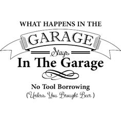 Väggord: What happens in the garage stays in the garage