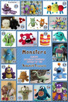 Monster Toys Part 2 - Animal Crochet Pattern Round Up via @beckastreasures