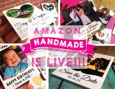 TODAY IS THE DAY!!! Amazon launched Handmade, its long-anticipated e-commerce website selling artisan goods >> I am { O N E } of 5000 handmade artisans that have been selected to open up shop on Amazon { T O O C O O L }  ♥ Take a peek & give me some love by sharing my page with your friends >> http://ow.ly/TaBJc #HandmadeAtAmazon #MiniPs #Handmade #Wedding #SavetheDate #FUNctionalMinis