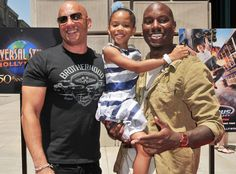 Vin Diesel, Shayla & Tyrese Gibson~ Premiere Fast & Furious Supercharged Ride at Universal Studios Hollywoood
