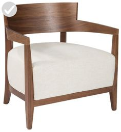 Mod Home Collection Volta Arm Chair, Cream - Improve your home (*Amazon Partner-Link)