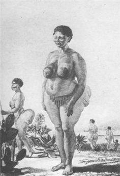 hottentot | Images : carte postale et gravure représentant la Vénus hottentote ...