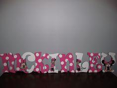 use round sponge paint brush for dots Sponge Paint Brush, Sponge Painting, Name Letters, Wood Letters, Minnie Mouse Party, Mouse Parties, Mouse Paint, Party Items, Custom Paint