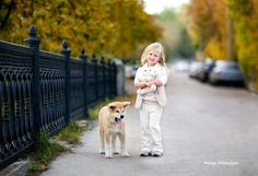 Children's photography, Family photography, Mariya Mikhaylyuk Photography, Girls Portraits, Outdoor Portraits, kids portrait, dog, autumm