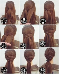 I literally look at any bush or fallen wood and think that I really want to do that - Haar-Tutorial einfach - Frisuren Pretty Hairstyles, Girl Hairstyles, Braided Hairstyles, Wedding Hairstyles, Quick Hairstyles, Hairstyles For Medium Length Hair Easy, Hairstyle Ideas, Hair Medium, Medium Long