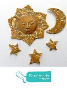 Sun Moon and Stars ceramic wall hanging sculpture from Cosmic Mermaid http://www.amazon.com/dp/B0186AKQHM/ref=hnd_sw_r_pi_dp_9JJzwb1M3PZ7Z #handmadeatamazon