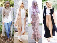 neutral chic hijab looks