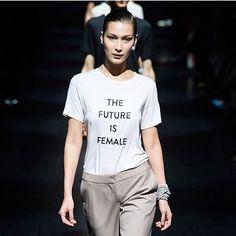 Feminism continues on the runway at @prabalgurung. Who run the world? #NYFW
