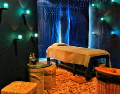Romantic spa treatment room!  Come to Fulcher's Therapeutic Massage in Imlay City, MI and Lapeer, MI for all of your massage needs!  Call (810) 724-0996 or (810) 664-8852 respectively for more information or visit our website lapeermassage.com!