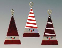 MaJe Gallery: Decorate with Style this Holiday Season Stained Glass Ornaments, Stained Glass Christmas, Stained Glass Patterns, Fused Glass Jewelry, Fused Glass Art, Mosaic Glass, Glass Christmas Decorations, Glass Christmas Tree Ornaments, Glitter Ornaments
