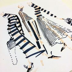 """""""Bodies & Stripes"""", by Jenny M Walton/Markers and Microns"""