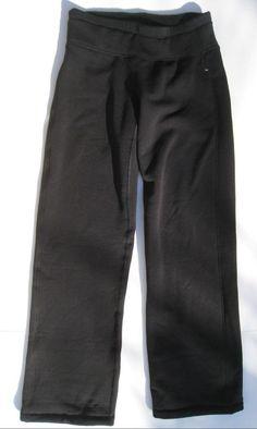 Athleta Polartec Power Stretch Pant Black Yoga Pants Fleece lined SP S Petite #Athleta #PantsTightsLeggings