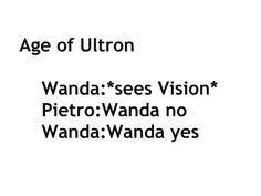 Pietro is not feeling the Wanda/Vision ship