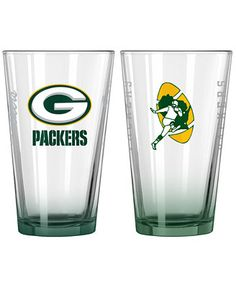 Boelter Brands Green Bay Packers 2-Pack 16 oz. Pint Glass