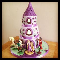 Rapunzel / Tangled birthday cake