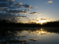 Sunrise at Pretty Water Lake, Sapulpa, Oklahoma