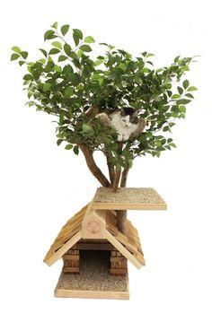 Etsy: PetTreeHouses: Sapling (small) Cat Tree House