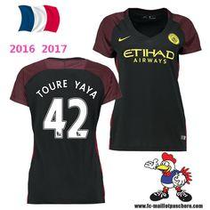 Vente Nouveau Maillot Football Manchester City Femme (TOURE YAYA 42) Exterieur…