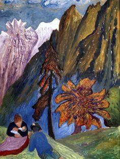 Marianne von Werefkin, Herbstidyll - Autumn idyll (ca. 1910)