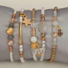 Diy Jewelry Ideas : Zomerarmbandjes Atelier Balila -Read More – Wire Jewelry, Boho Jewelry, Jewelry Crafts, Beaded Jewelry, Jewelry Accessories, Jewelry Design, Fashion Jewelry, Jewellery, Cute Bracelets