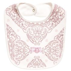 c53d19ecdb0c Young Versace Girls Pink Cotton Maioliche Print Bib Kids Online