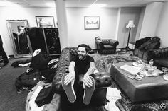 Backstage and laughing with Jeremy McKinnon of A Day To Remember in London. full set- http://adamelmakias.com/live/photos-of-a-day-to-remember-at-alexandra-palace-in-london-2/