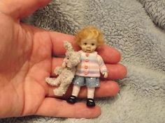 Miniature handmade MINI GIRL CHILD TODDLER ooak DOLLHOUSE ART DOLL HOUSE ARTIST