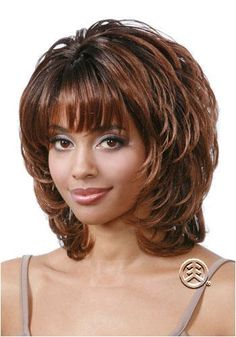 Bobbi Boss Jisu Color ** You can get more details by clicking on the image. (This is an affiliate link) Curly Hair Styles Easy, Short Hair Lengths, Short Hair With Layers, Layered Hair, Short Hair Styles, Thin Hair Short Haircuts, Shaggy Short Hair, Short Shag Hairstyles, Short Hair Cuts