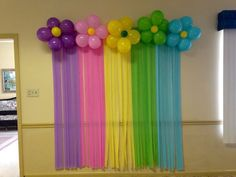 Cheap Background streamers and balloons - Balloon Decorations 🎈 Rainbow Birthday Party, Unicorn Birthday Parties, Birthday Party Themes, Butterfly Birthday, Birthday Ideas, Balloon Background, Birthday Background, Background Ideas, Background Patterns