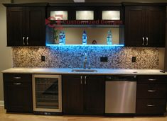 led shelf #kitchen #basement #bar