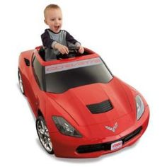 Fisher-Price Power Wheels Corvette Stingray 12-Volt Battery Powered Ride-On, Red