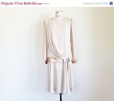 40 OFF SALE Vintage 80's does 20's Nude by perniejaynevintage, $34.80