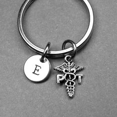 Physical Therapist Keychain PT keychain by chrysdesignsjewelry