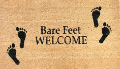 'Bare Feet Welcome' Welcome Mat, Coir Fiber with anti-slip PVC backing, 17'x 29' >>> Read more  at the image link. (This is an affiliate link and I receive a commission for the sales)