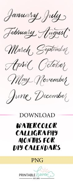 2019 Floral Printable Calendar Fonts and Free Printables