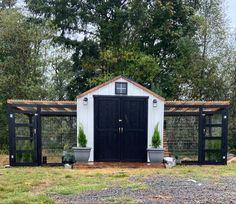 Cute Chicken Coops, Chicken Coop Run, Diy Chicken Coop Plans, Chicken Garden, Chicken Coop Designs, Backyard Chicken Coops, Backyard Farming, Chickens Backyard, Moveable Chicken Coop