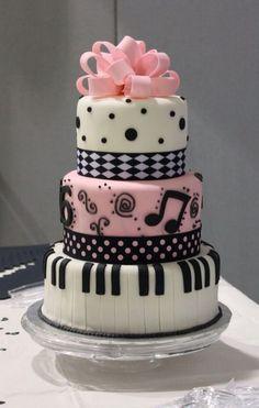 Pretty Image of Sweet 16 Birthday Cake . Sweet 16 Birthday Cake Sweet 16 Cakes Decoration Ideas Little Birthday Cakes Pretty Cakes, Cute Cakes, Beautiful Cakes, Amazing Cakes, Piano Cakes, Music Cakes, Music Themed Cakes, Fondant Cakes, Cupcake Cakes