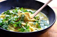 Thajská kuřecí nudlová polévka Main Meals, Ramen, Spaghetti, Soup, Chinese, Cooking, Ethnic Recipes, Blog, Collection