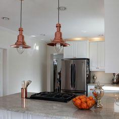 After: Barn-Style Pendant Lighting  - HouseBeautiful.com