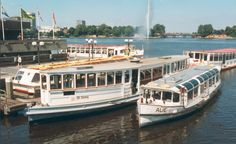 """""""St.Georg"""" 1876 und """"AUE"""" 1926 - 1994 beide vom Verein Alsterdampfschiffahrt e.V. betrieben"""